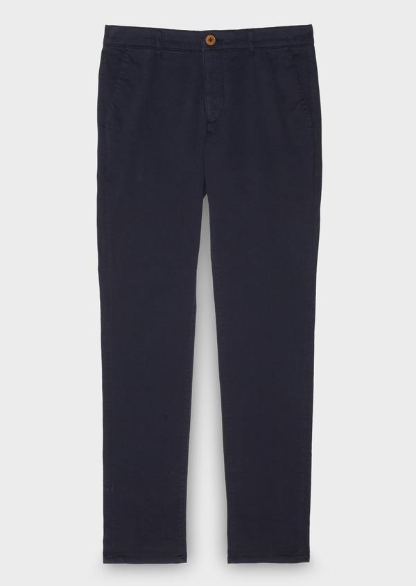 Chino slack skinny en coton stretch uni marine - Father and Sons 28007