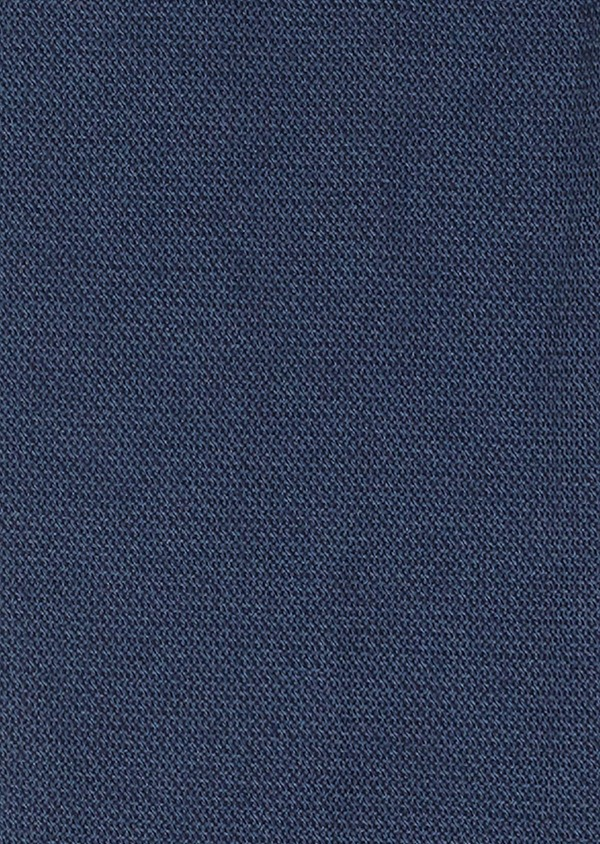 Chino slack super skinny en coton façonné uni bleu pétrole - Father and Sons 26926