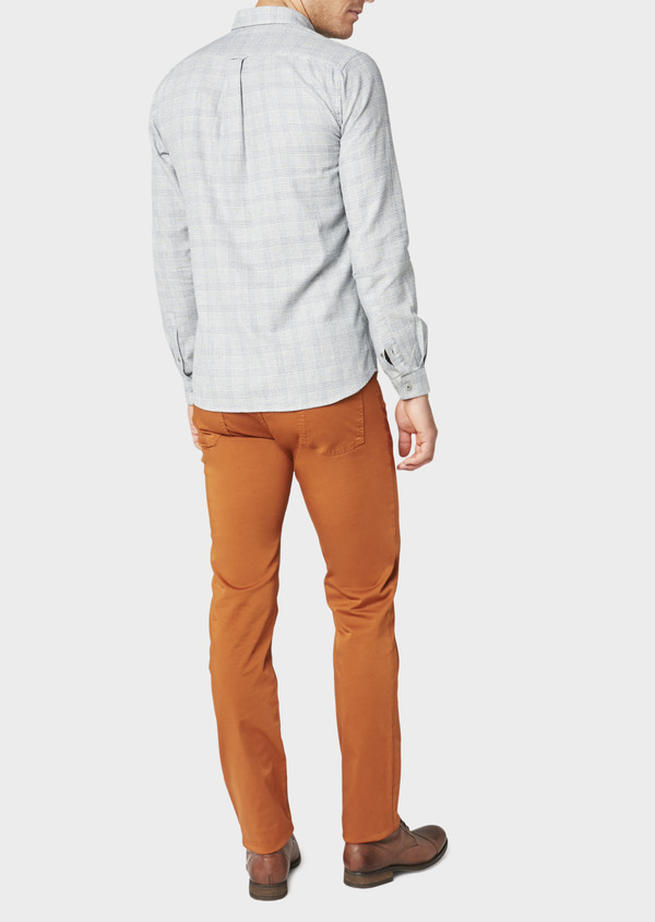 Chino slack skinny en coton stretch uni marron - Father and Sons 31130