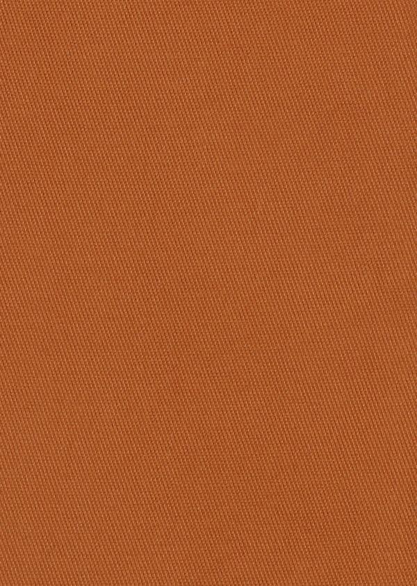 Pantalon skinny en coton façonné uni marron - Father and Sons 28024