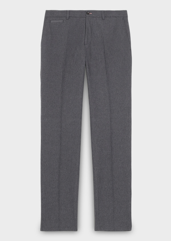 Pantalon coordonnable Slim en coton façonné uni gris - Father and Sons 27995