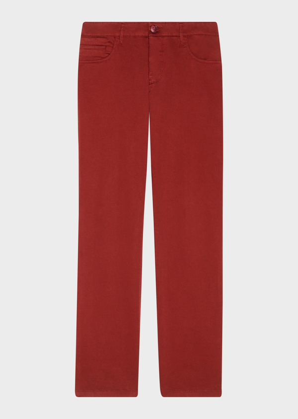 Chino slack skinny en coton stretch uni bordeaux - Father and Sons 31133