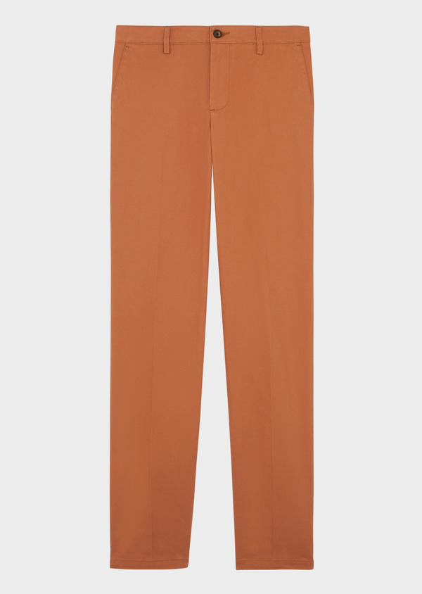 Chino slack skinny en coton stretch uni caramel - Father and Sons 39217
