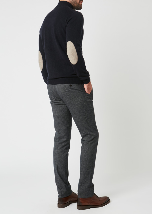 Pantalon Slim coordonnable bleu indigo Prince de Galles - Father and Sons 28016