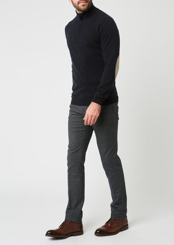 Pantalon Slim coordonnable bleu indigo Prince de Galles - Father and Sons 28015