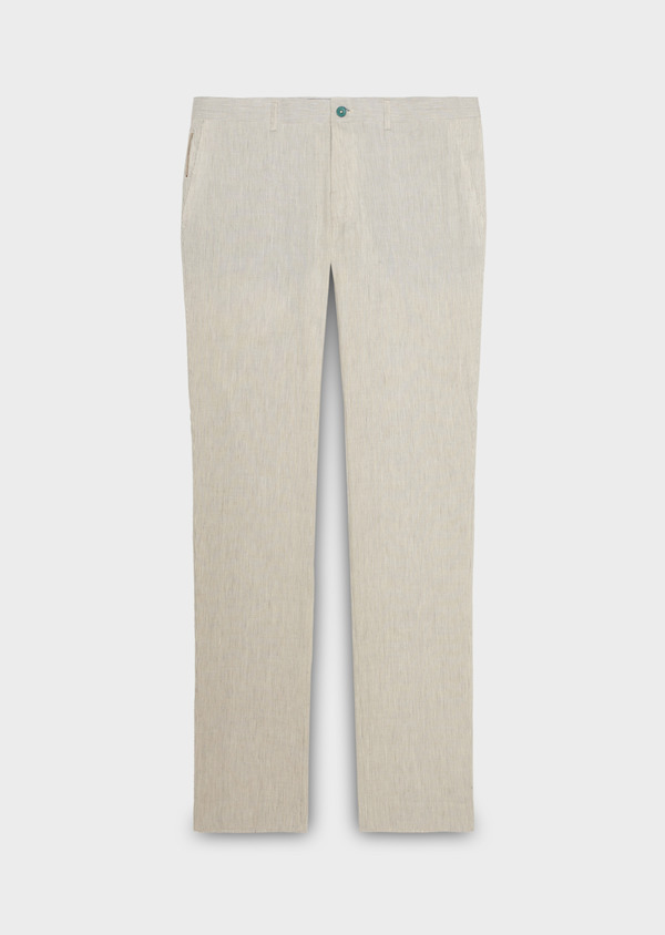 Pantalon coordonnable en lin uni gris - Father and Sons 18494