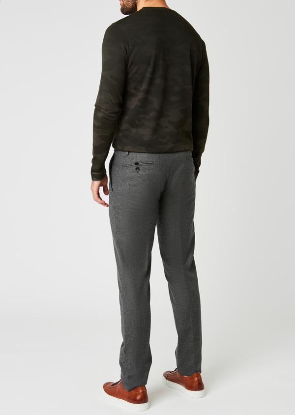 Pantalon Slim coordonnable en laine unie grise - Father and Sons 26960