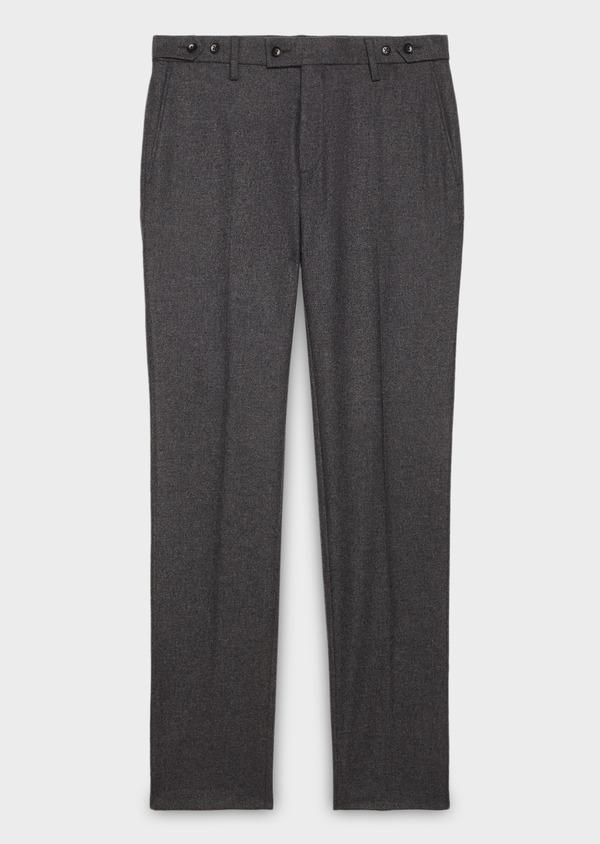 Pantalon Slim coordonnable en laine unie grise - Father and Sons 26958