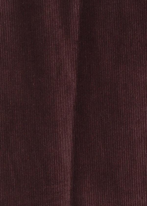 Pantalon coordonnable Slim en velours uni bordeaux - Father and Sons 27984