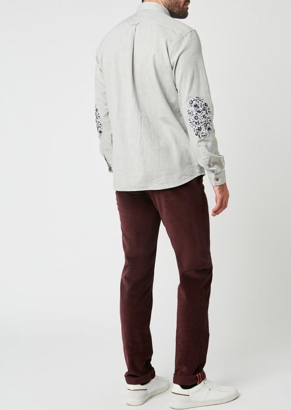 Pantalon coordonnable Slim en velours uni bordeaux - Father and Sons 27986