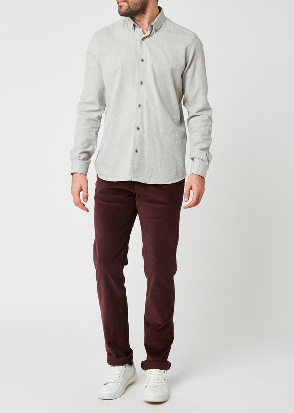 Pantalon coordonnable Slim en velours uni bordeaux - Father and Sons 27985