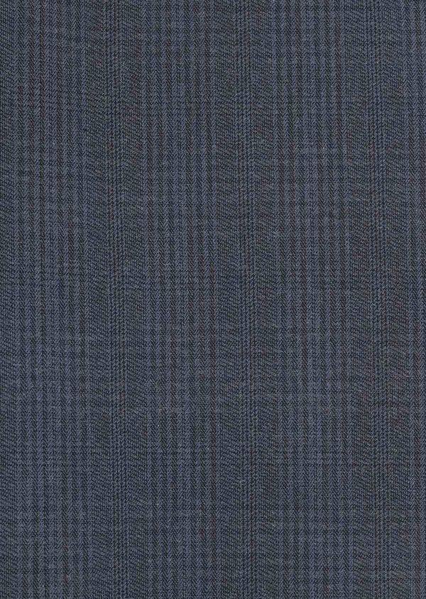 Chino slack skinny en coton stretch bleu foncé Prince-de-Galles - Father and Sons 30980