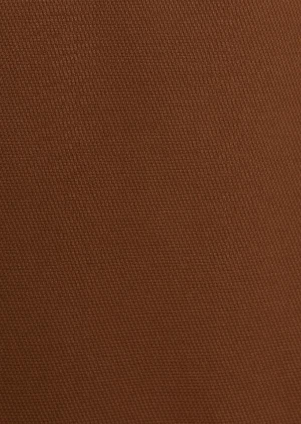 Chino slack skinny en coton façonné stretch uni marron - Father and Sons 30974