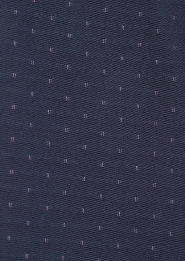 Chino slack skinny en coton stretch à motif fantaisie bleu indigo - Father and Sons 33300