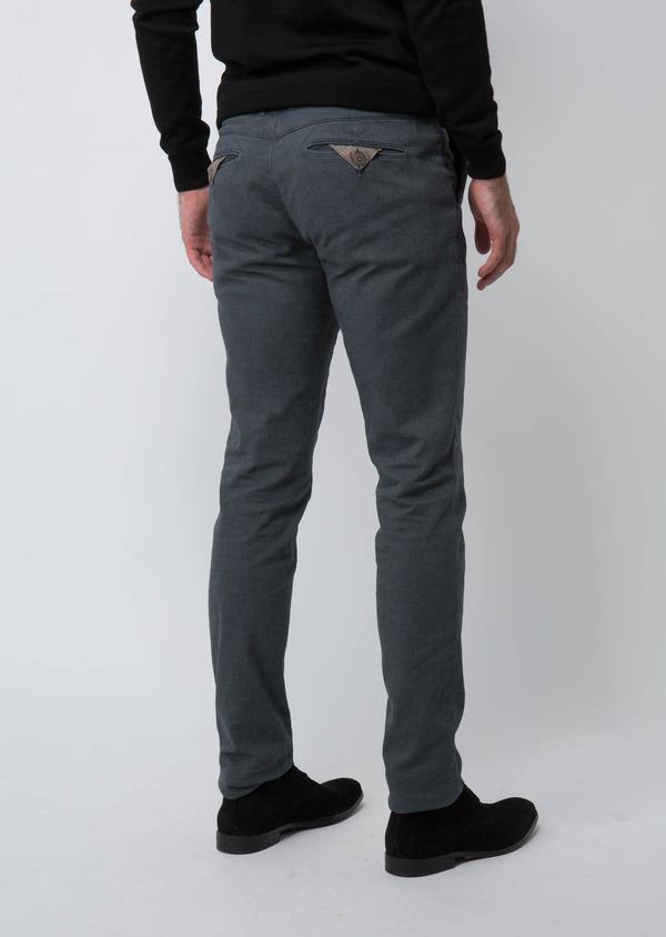 Chino slack skinny en velours côtelé uni gris clair - Father and Sons 30115