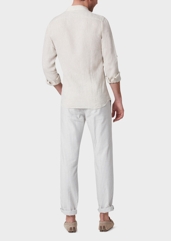 Chino slack skinny en coton à rayures grises - Father and Sons 33889
