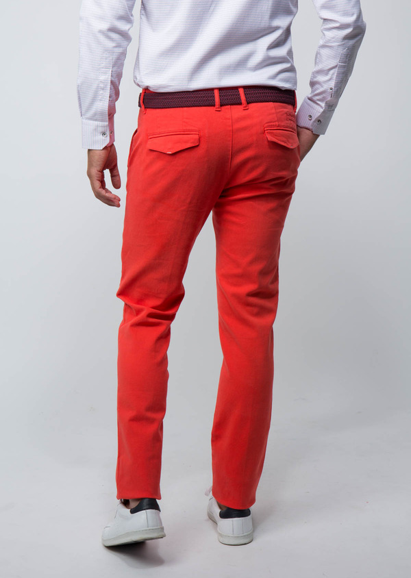 Chino slack Skinny en coton stretch uni orange - Father and Sons 28818