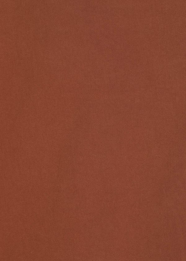 Chino slack skinny en coton stretch uni cognac - Father and Sons 33915