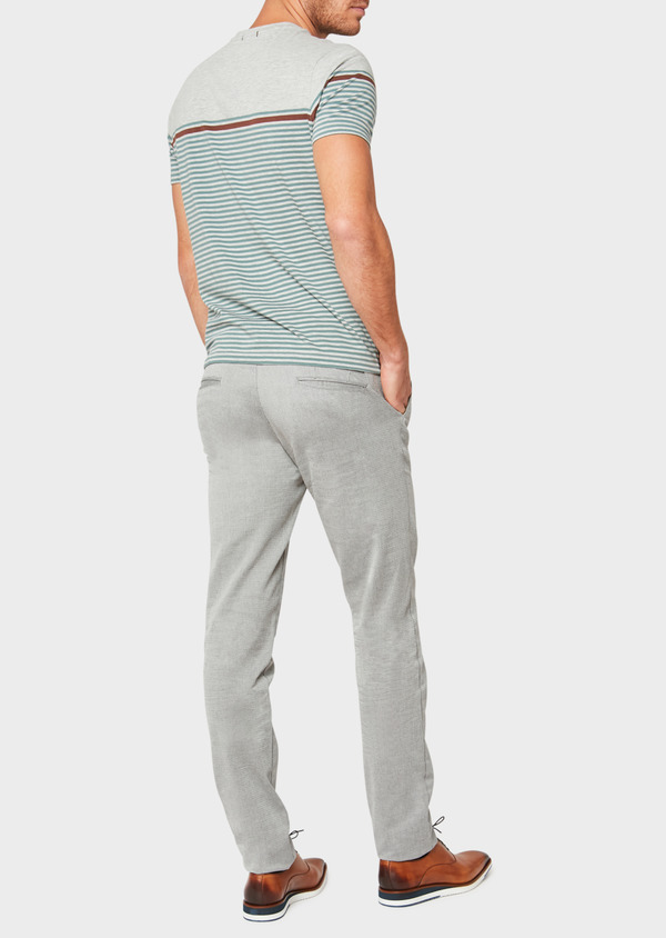 Chino slack skinny en coton stretch uni gris - Father and Sons 33324