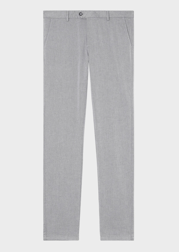 Chino slack skinny en coton stretch uni gris - Father and Sons 33321