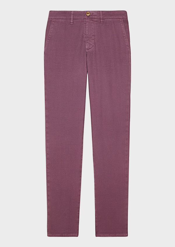 Chino slack skinny en coton stretch uni violet - Father and Sons 33331