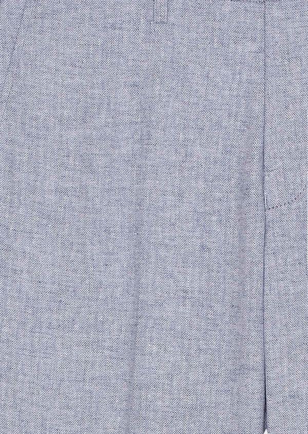 Pantalon coordonnable slim en lin et coton uni bleu ciel - Father and Sons 33292