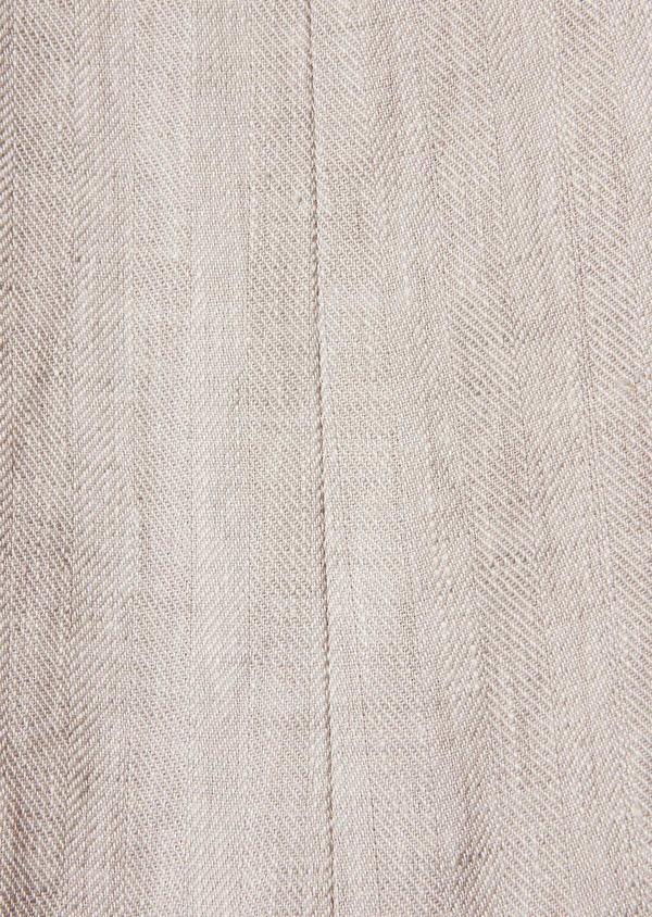 Pantalon coordonnable slim en lin uni gris - Father and Sons 34531