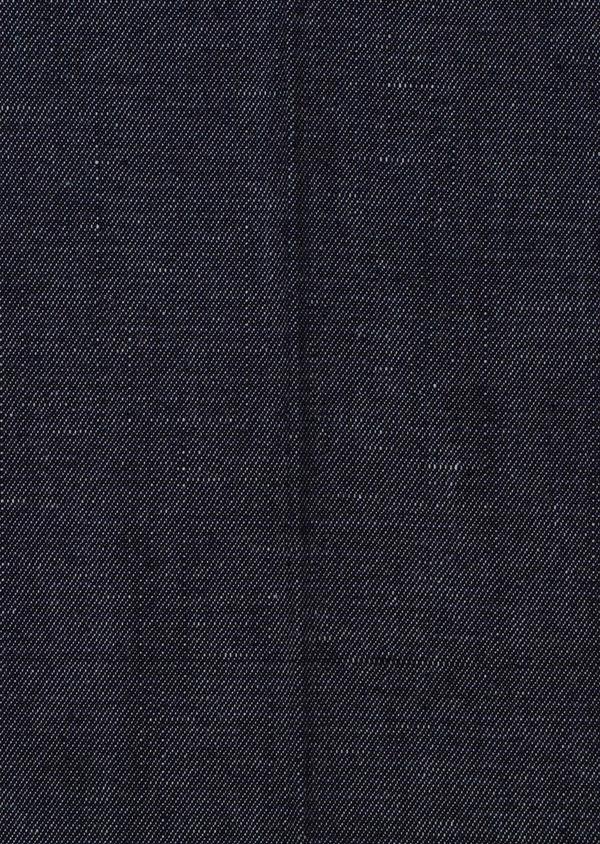 Pantalon coordonnable slim en coton mélangé uni bleu - Father and Sons 33899