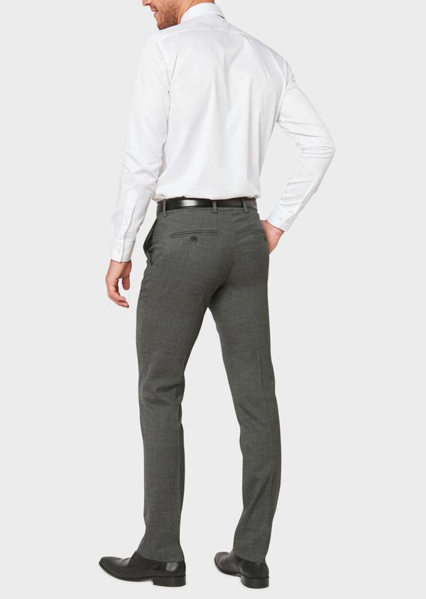 Pantalon voyage coordonnable Regular en laine unie grise - Father and Sons 31867