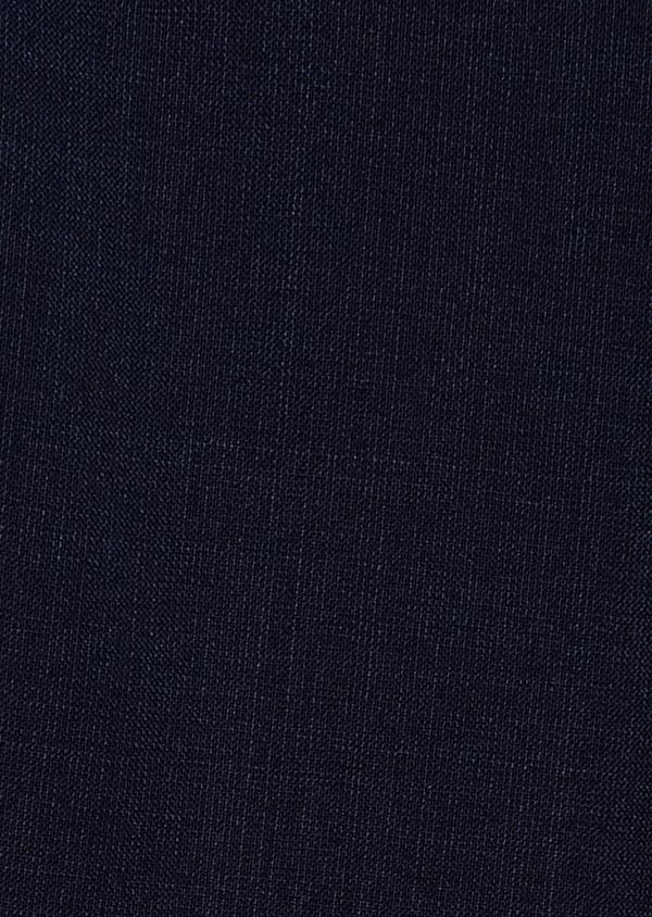 Pantalon voyage coordonnable Regular en laine unie bleu marine - Father and Sons 31831