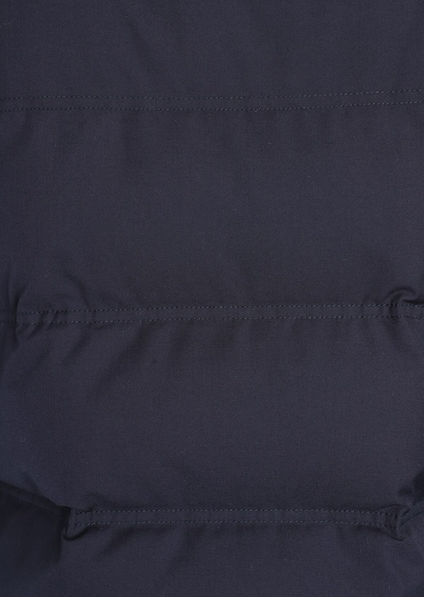 Parka courte unie bleu indigo à capuche - Father and Sons 35929