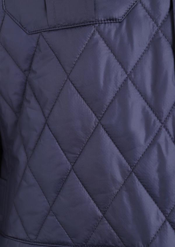 Parka courte unie bleu indigo matelassée - Father and Sons 34708