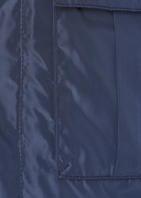 Parka unie bleu indigo à parmenture amovible - Father and Sons 31983