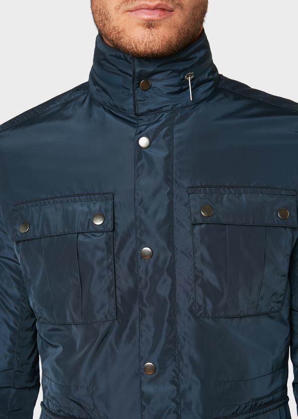 Parka unie bleu indigo à parmenture amovible - Father and Sons 31986