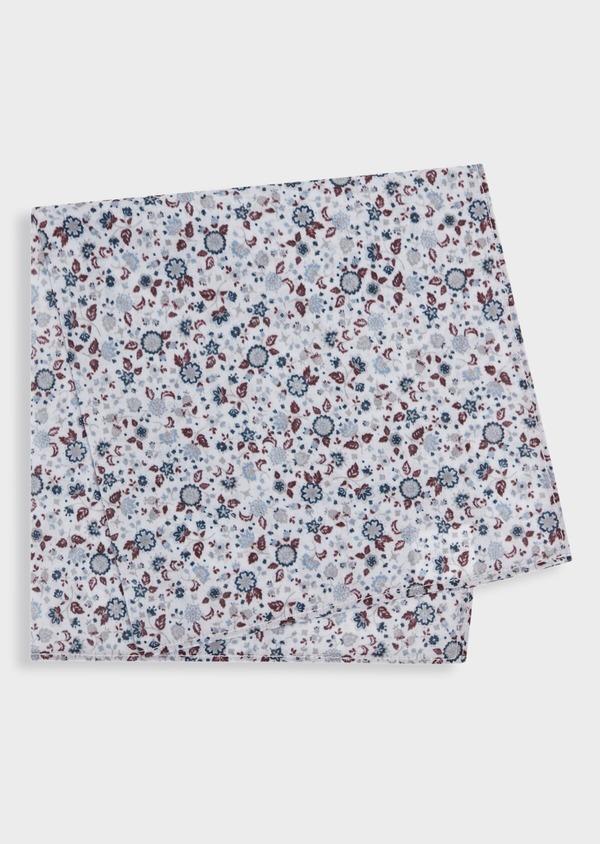 Pochette en coton à motif fleuri bordeaux - Father and Sons 36567
