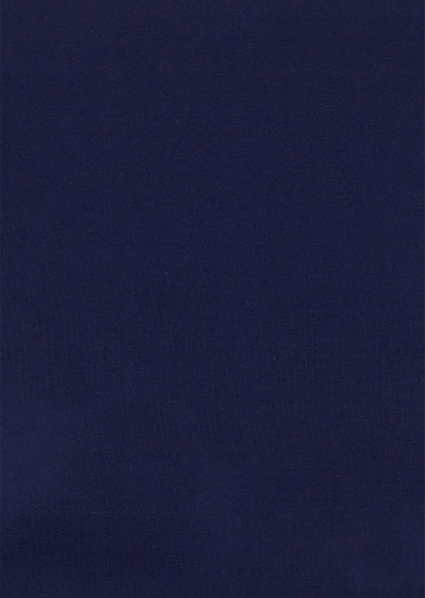 Pochette en soie unie bleue - Father and Sons 19106