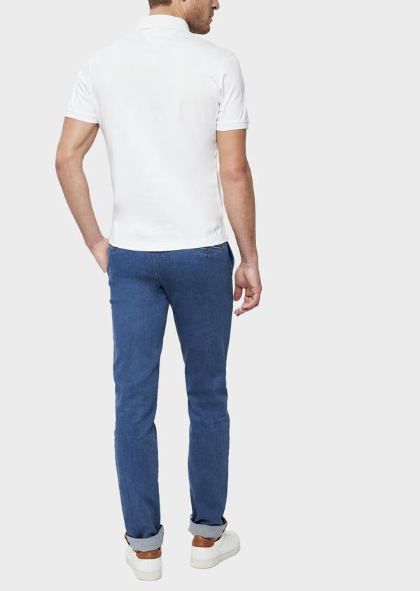 Polo manches courtes Slim en coton blanc, orange et beige - Father and Sons 38746