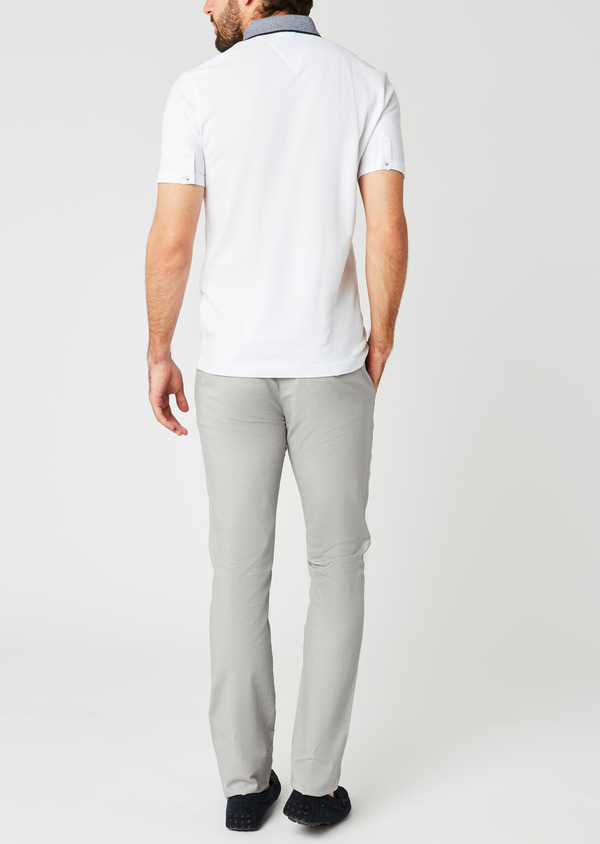 Polo manches courtes Slim en coton uni blanc - Father and Sons 20344