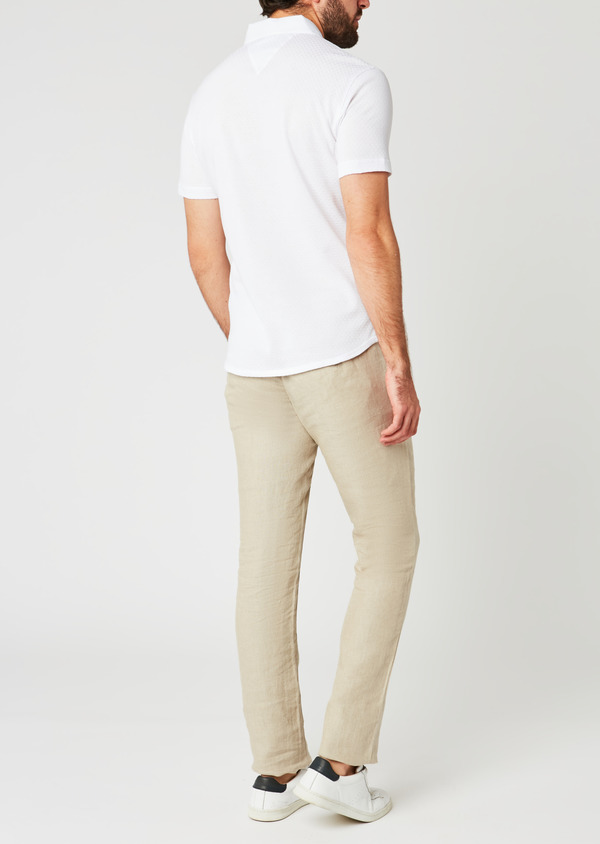 Polo manches courtes Slim en coton blanc - Father and Sons 20360