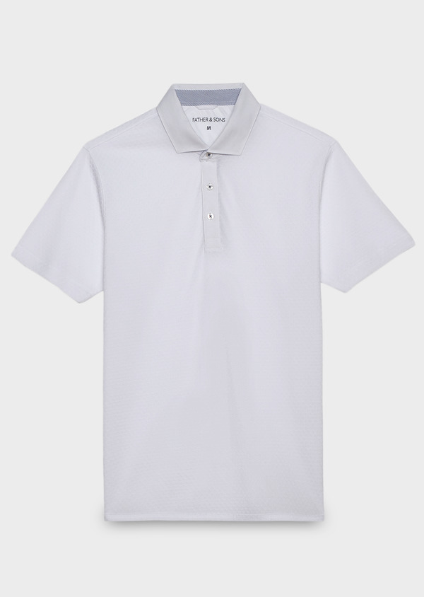 Polo manches courtes Slim en coton blanc - Father and Sons 20357