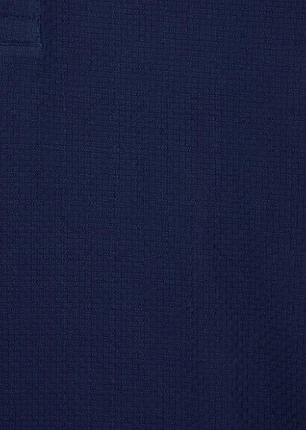 Polo manches courtes Slim en coton uni bleu indigo - Father and Sons 38776