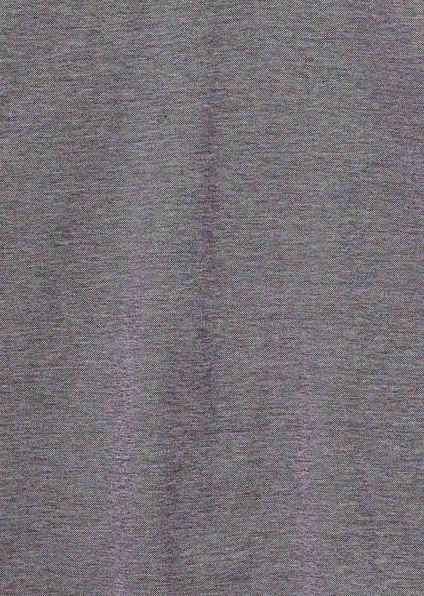 Polo manches longues Slim en coton uni gris - Father and Sons 27014
