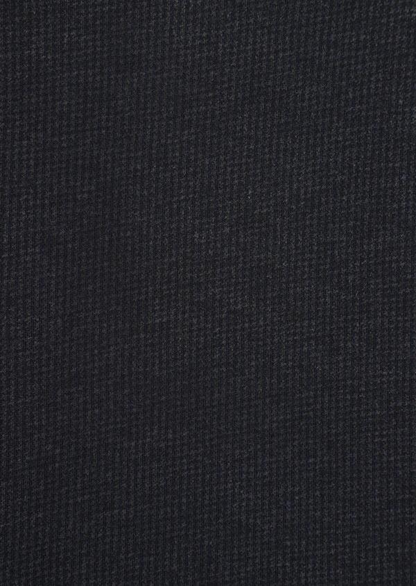 Polo manches longues Slim en coton jersey uni gris chiné et bleu marine - Father and Sons 37034
