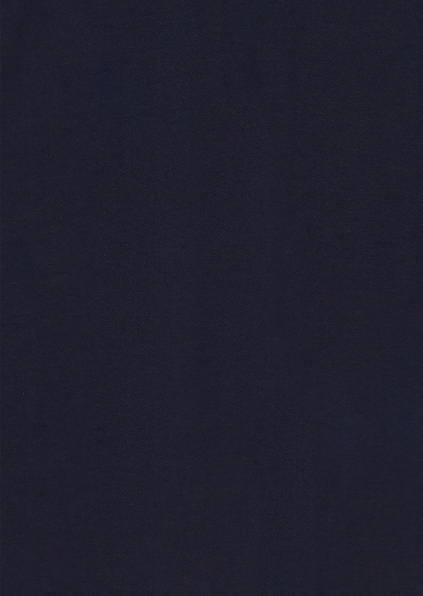 Polo manches longues Slim en coton uni bleu indigo - Father and Sons 28070