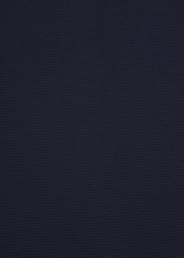 Polo manches longues Slim en coton uni bleu indigo - Father and Sons 37039