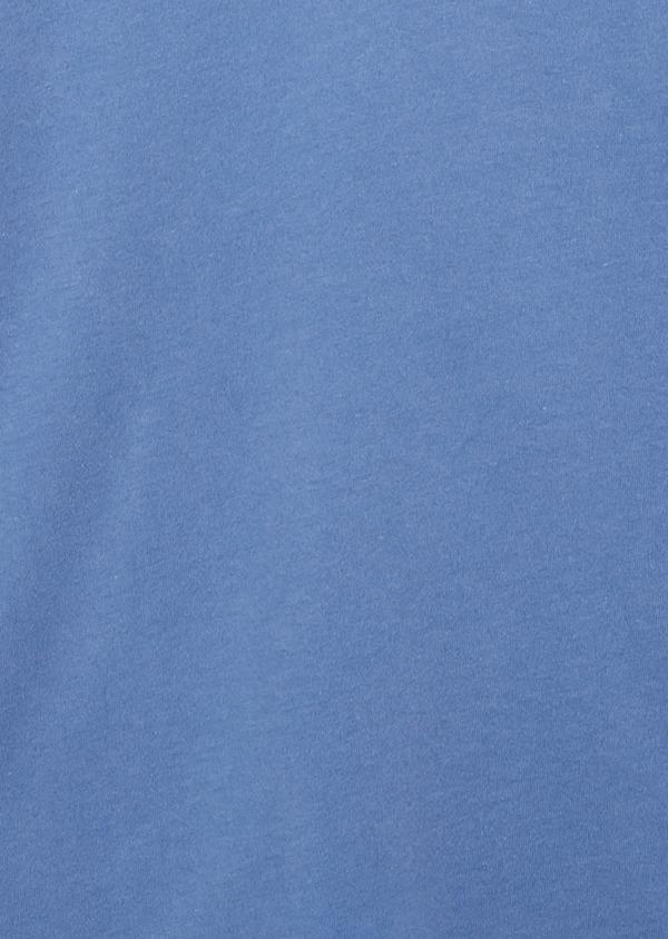 Polo manches longues Slim en coton uni bleu - Father and Sons 20224