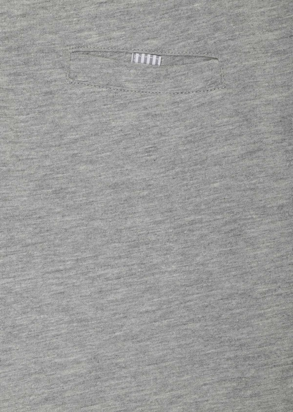 Polo manches longues Slim en coton uni gris clair - Father and Sons 33468