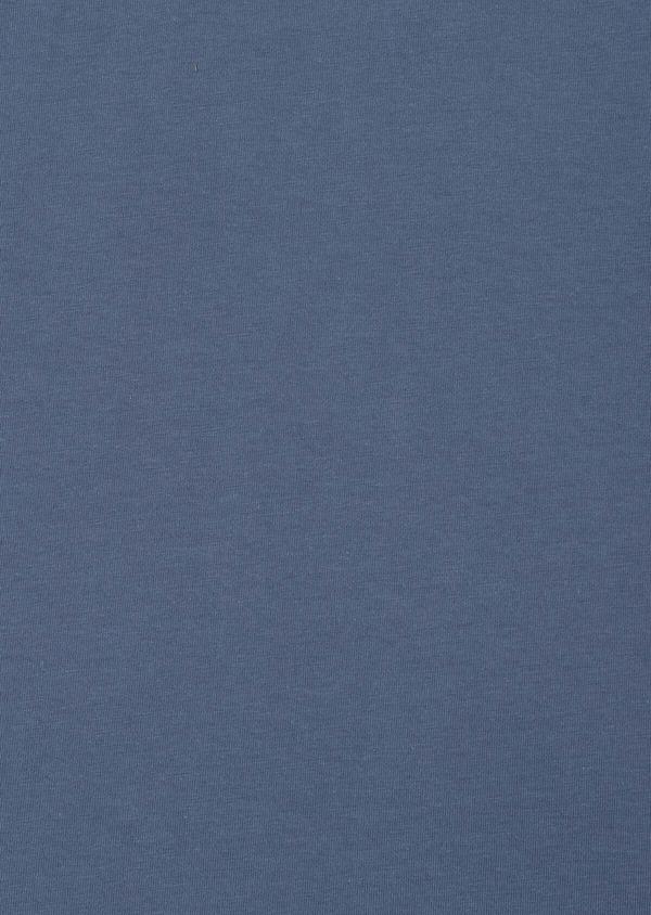 Polo manches longues Slim en coton uni bleu - Father and Sons 33454