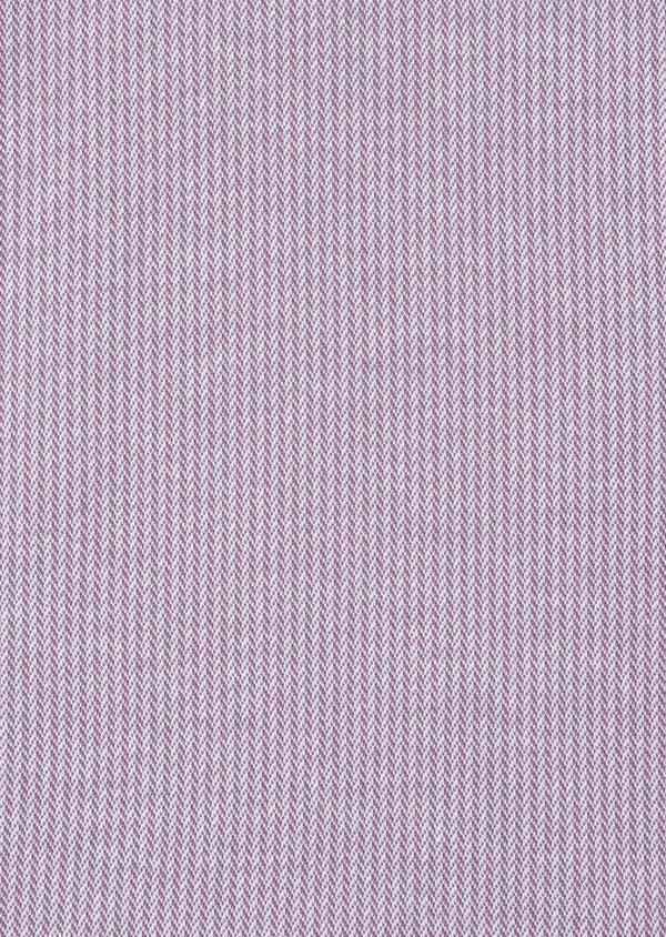 Polo manches courtes Slim en coton violet à motif fantaisie - Father and Sons 34021