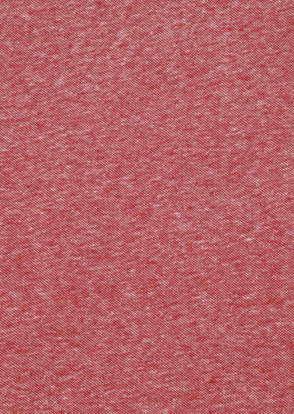 Polo manches courtes Slim en coton uni rouge chiné - Father and Sons 33992